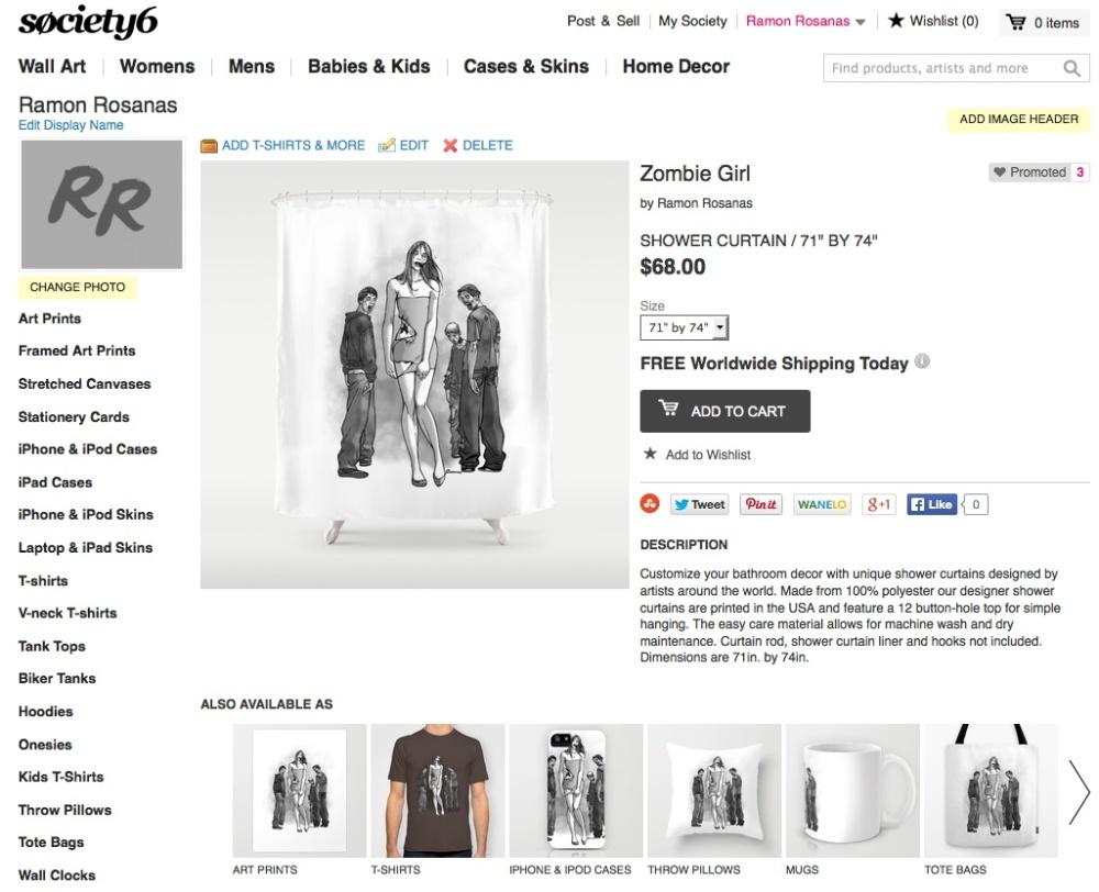 Merchandising zombie girl