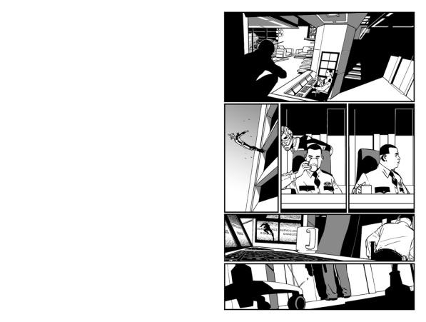 ANT-MAN page 1 B/W