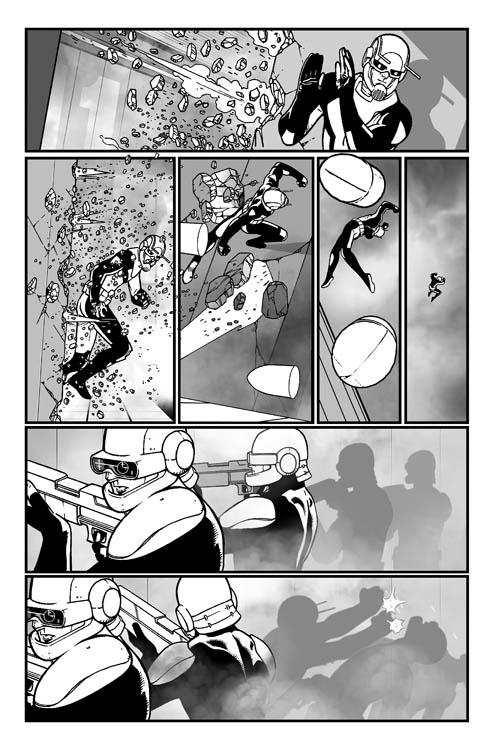 ANT-MAN #4-3 B/W